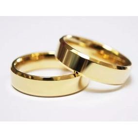 Par De Alianças Ouro 18k 12 Gramas 7mm Casamento Promoção