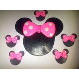Adorno Minnie Mouse Para Torta En Masa Flexible