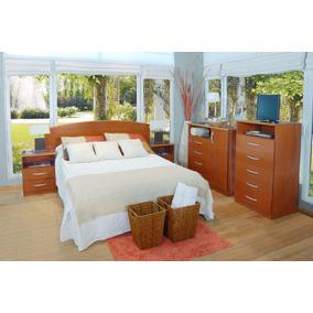 Dormitorio Cama 2 Plazas+2 Mesas+comoda+chifonier Mosconi