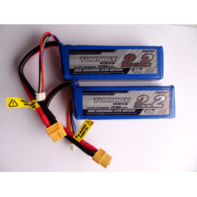 Kit 2x Lipo Bateria 2200mah 3s 20c 11.1v Turnigy 2 Unidades*