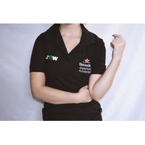 Camisa Polo Feminina Com Gola Preta Heineken Oficial Beer