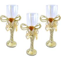 Mini Tacinha Dourada Decorada Aniversário Casamento 10unid