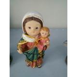 Imagem De Nossa Senhora Do Rosario 10cm (rosto Infantil)