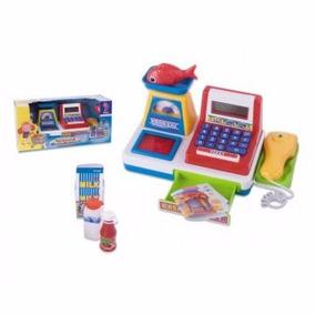 Caixa Máquina Registradora Infantil Com Acessórios Fênix