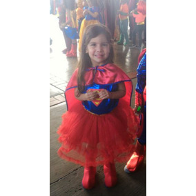 Disfraz Superchica Superniña Supergirl Original Licencia