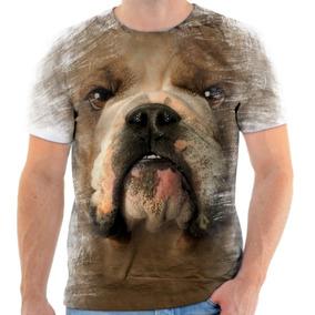 Camiseta Bulldog Manga Curta - Camisetas e Blusas no Mercado Livre ... 2eb4b6424c5cd