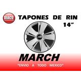 Tapones De Rin Nissan March Tipo Original 14 Nueva Linea
