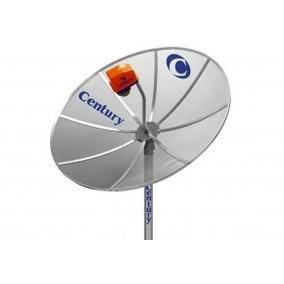 Antena Parabólica Century 1,50m+lnbf Mono+cabo Sem Receptor