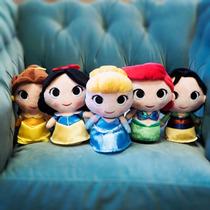 Set 5 Princesas Disney Peluche Ariel Bella Mulan Blanca Msi