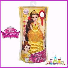 Princesa Disney Muñeca Bella Cabello Muy Largo Barbie