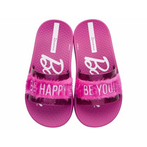 Sandália Infantil Feminina Barbie Slide Pink Frete Grátis