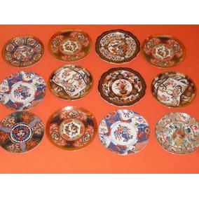 Platos De Porcelana Japonesa Saji (15cm) X 12 Unidades