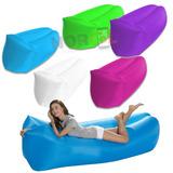 Sillon Cama Inflable Lazy Bag Puff- Envio Gratis!! Almohada!