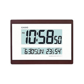 Relogio Casio Id17 Marrom Parede Mesa Humidade Temperatura