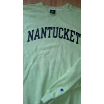 Sudadera Nantucket L Champion Color Pistache Nueva Wapisima
