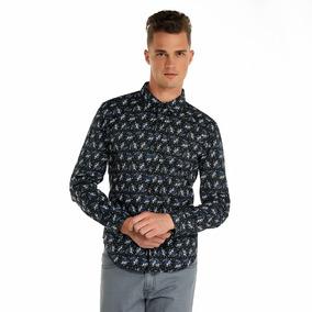 Camisa Oggi Ml X1541301 Negro Hombre