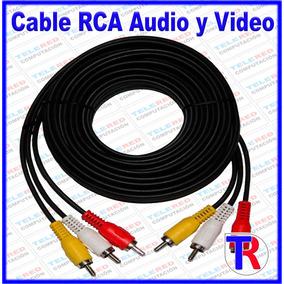 Cable Rca Audio Y Video 3 Mts Para Dvd Tv Decodificador