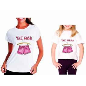 Kit 2 Camisetas Feminina Tshirt Tal Mãe Tal Filha Bob Sponja