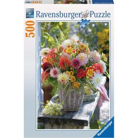 Rompecabezas Ravensburger 500 Piezas Jarrón Con Flores 14343