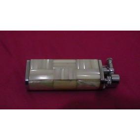 Antiguo Encendedor A Gas Con Aplicaciones De Conchayperla