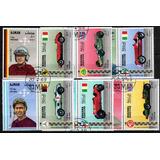 Serie De 12 Estampillas + 1 Block Autos Juan Manuel Fangio
