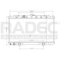 Radiador Nissan Sentra 2003-2004-2005 L4 1.8 Lts Estandar