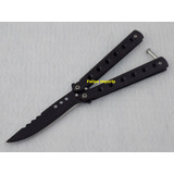 Kit Com 3 Canivete Butterfly Diferentes Balisong Black