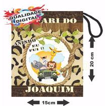 50 Saquinhos Surpresa Sacolinhas Personalizadas # Safari