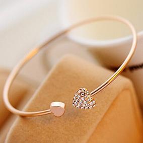 Bracelete Feminino Dourado Com Pedras Barato Presente Lindo