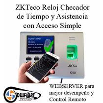 Control De Acceso Tiempo Y Asistencia Biométrico K40 Zkteco