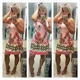 Vestido Curto Floral Viscolycra Roupas Femininas Da Moda