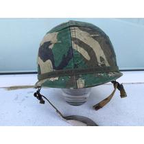 Casco De Combate M1 Usa Army Viet Nam Camuflaje Selva