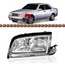 Farol Mercedes C220 Lado Esquerdo 97 98 99 00