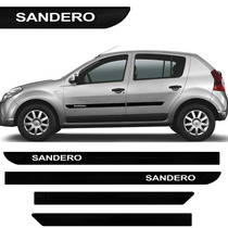 Friso Lateral Do Renault Sandero 09 10 11 12 13 14 Borrachão