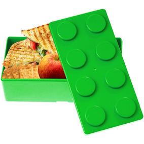 Topper Dulcero Lonchera Multiusos Forma Lego Verde H3170