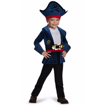 Disfraz Jake Pirata Capitán Disney 4/6 Años Entrega Inmediat