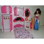 Kit Quarto Boneca Cama Armario Espelho Cabide Igual A Barbie