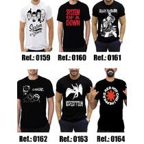 Kit 10 Camisetas Bandas Rock - Camisas Guns,slipknot,metalli