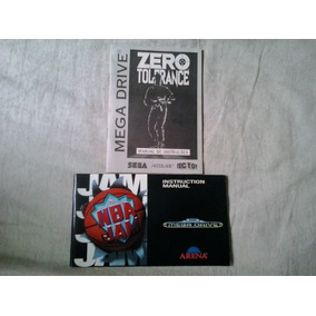 Manual Jogo Mega Drive - Zero Tolerance - Nba Jan