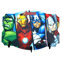 Cabideiro Pendurador 3 Ganchos Avengers Vingadores Marvel