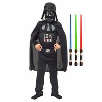 Disfraz Darth Vader Star Wars Original Espada Luz Y Sonido