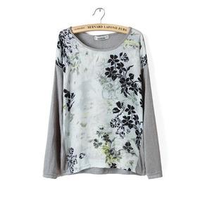 Sweater Floreado Nuevo Gris Con Envío Gratis