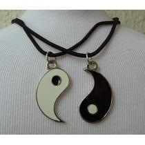 Conjunto Dois Colares Yin Yang Alma Gêmea Melhores Amigos A