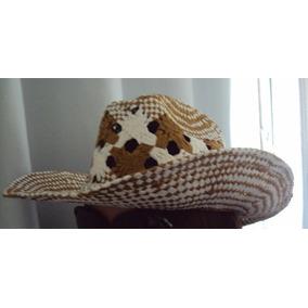 Chapéu Cowboy Branco Caramelo Feminino Cowgirl Rodeio Praia