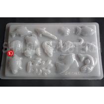 *molde Mediano Gelatinas 14 Figuras De Mar Pez Moana Jabon
