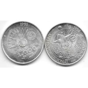 Moneda Portugal Plata 1000 Escudos 1998 Año Oceanos