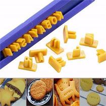 Marcador Números Letras Biscuit Biscoito Pasta Americana P
