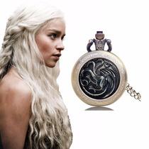 Oferta Reloj De Bolsillo Metalico Targaryen Game Of Thrones