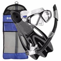 Us Divers Kit De Snorkeo Aletas Snorkel Visor Mochila Gratis