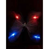 Alas Grandes Azul Con Luz Led Cetro Cintillo Mariposa Hada
